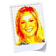 Rubik's Cube Art Mosaic Plans on Paper