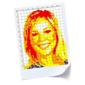 Rubik's Cube Art Mosaic Plans on Paper