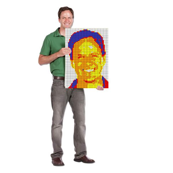 Cube Mosaic Mounted Mini Cube Art Project
