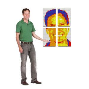 Cube Mosaic Mounted Art Project