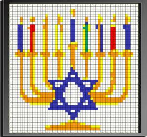 Menorah Rubiks' Cube Art Mosaic