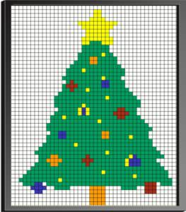 Cube Mosaic Art Christmas Tree
