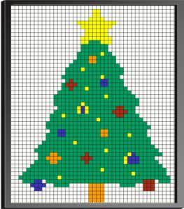 Cube Mosaic Art Christmas Tree